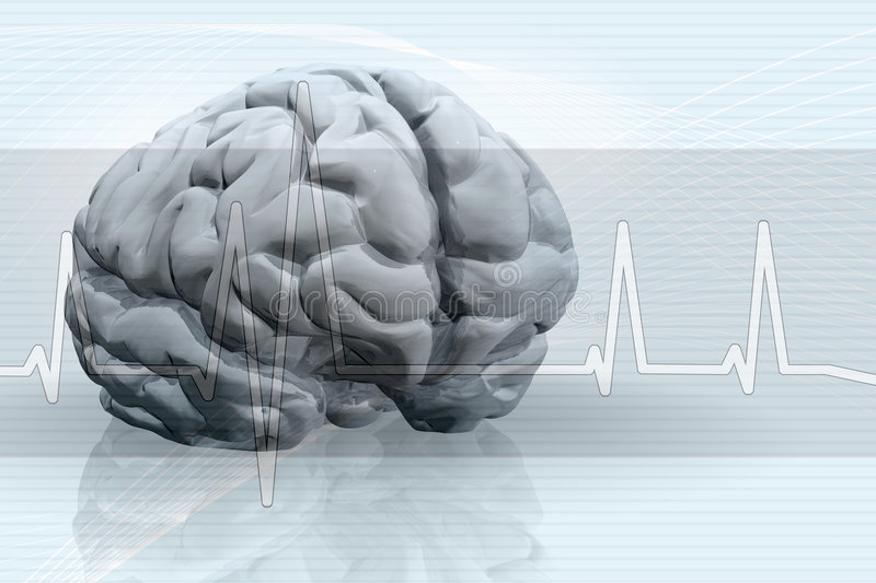 Brain Pulse Background vector illustration