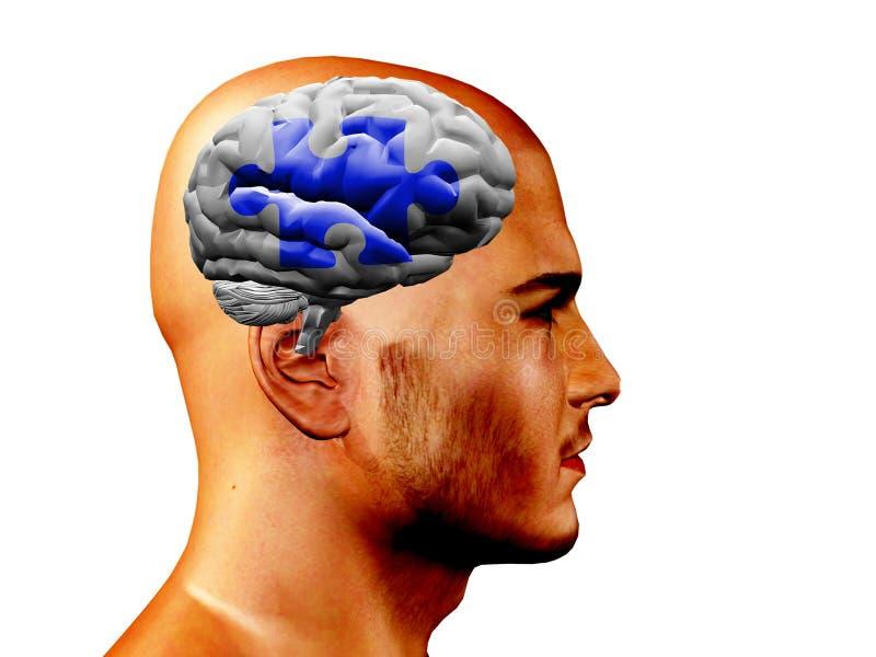 Brain Puzzle stock illustration