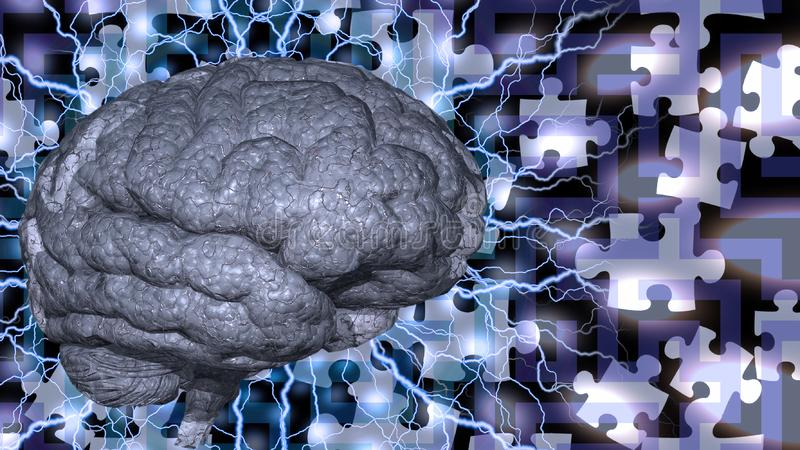 Brain Puzzle royalty free illustration