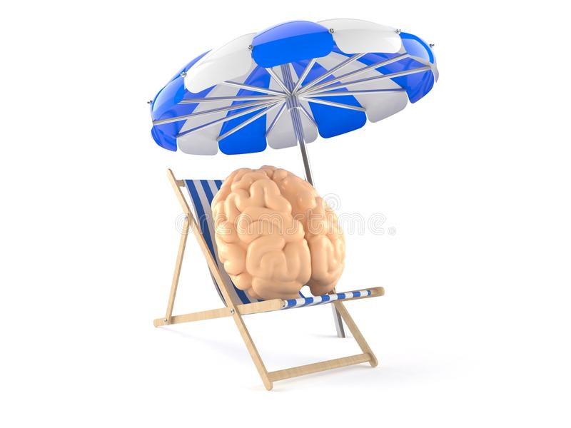 Brain relax concept. Isolated on white background stock illustration