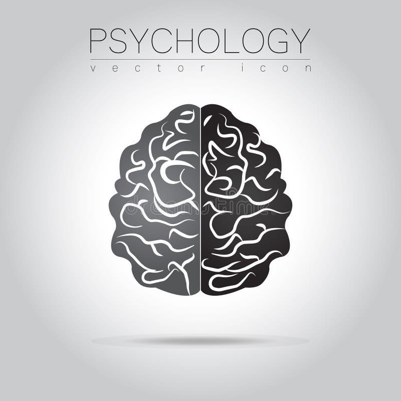 Brain Sign moderno da psicologia humano Estilo creativo Ícone no vetor Conceito de projeto ilustração stock