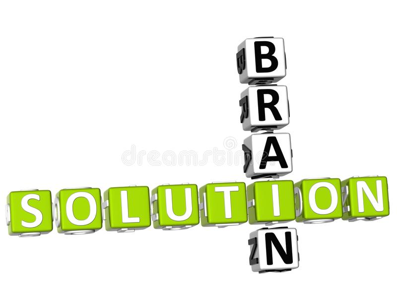 Brain Solution Crossword illustration de vecteur