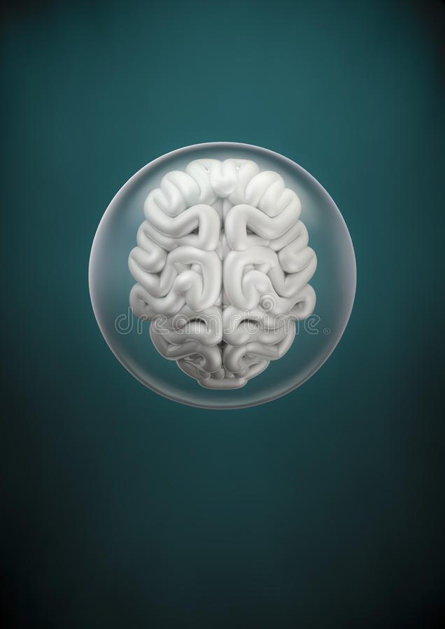 Download Brain sphere stock illustration. Image of fiction, sphere - 34483600
