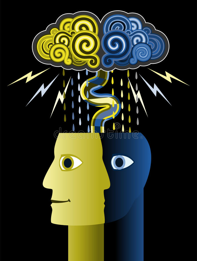 Brain Storm. Illustration of the concept of a brain storm royalty free illustration