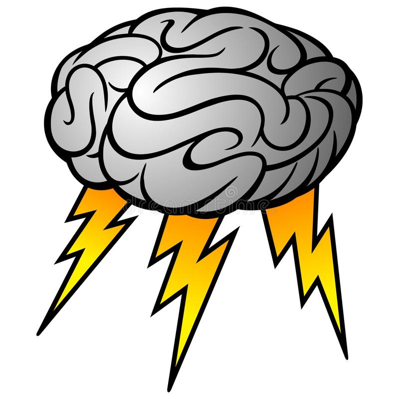 Brain Storm vektor illustrationer