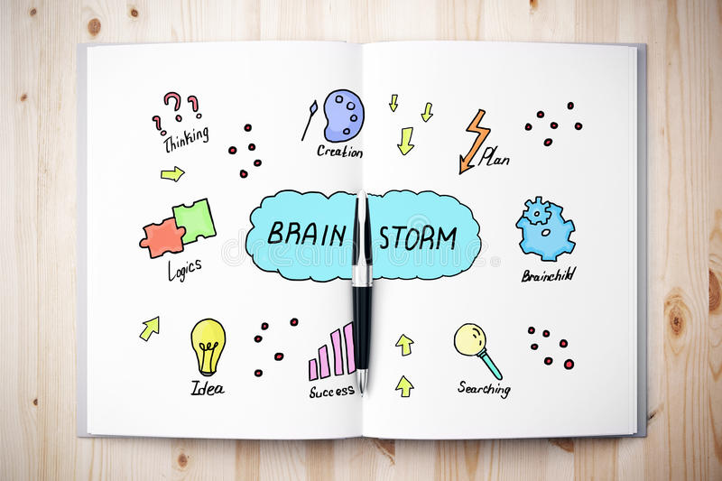Brain storm concept royalty free illustration
