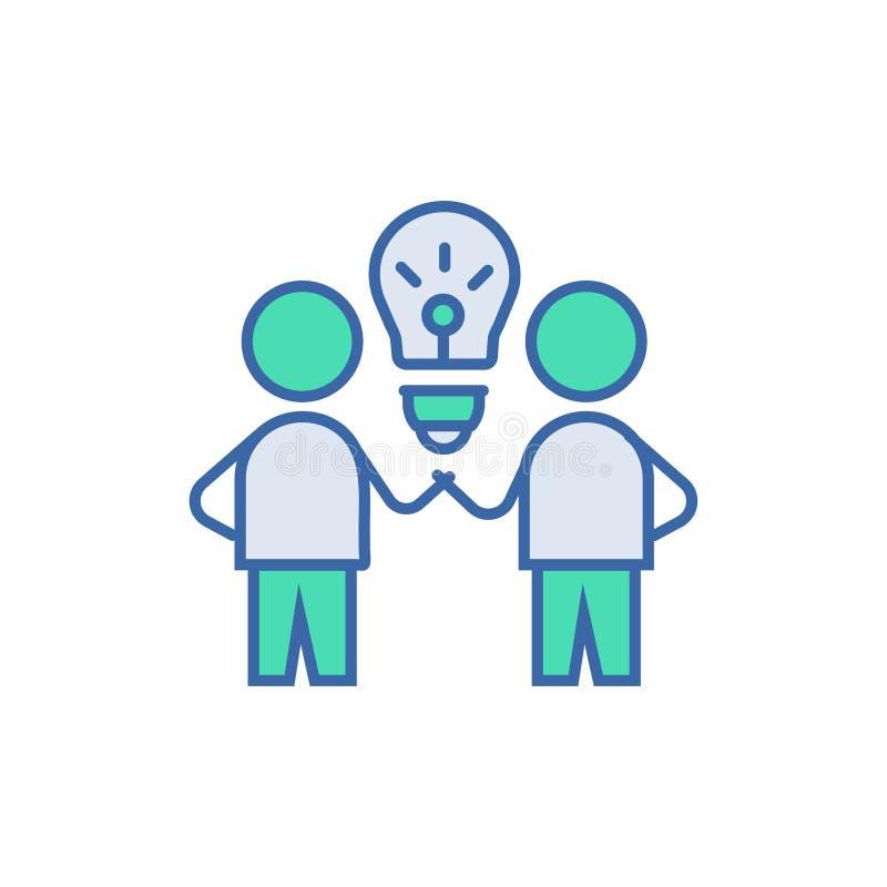 Brain Storm Icon s?mbolo do esquema e do diagrama do vetor ícone liso de Brain Storm ilustração royalty free