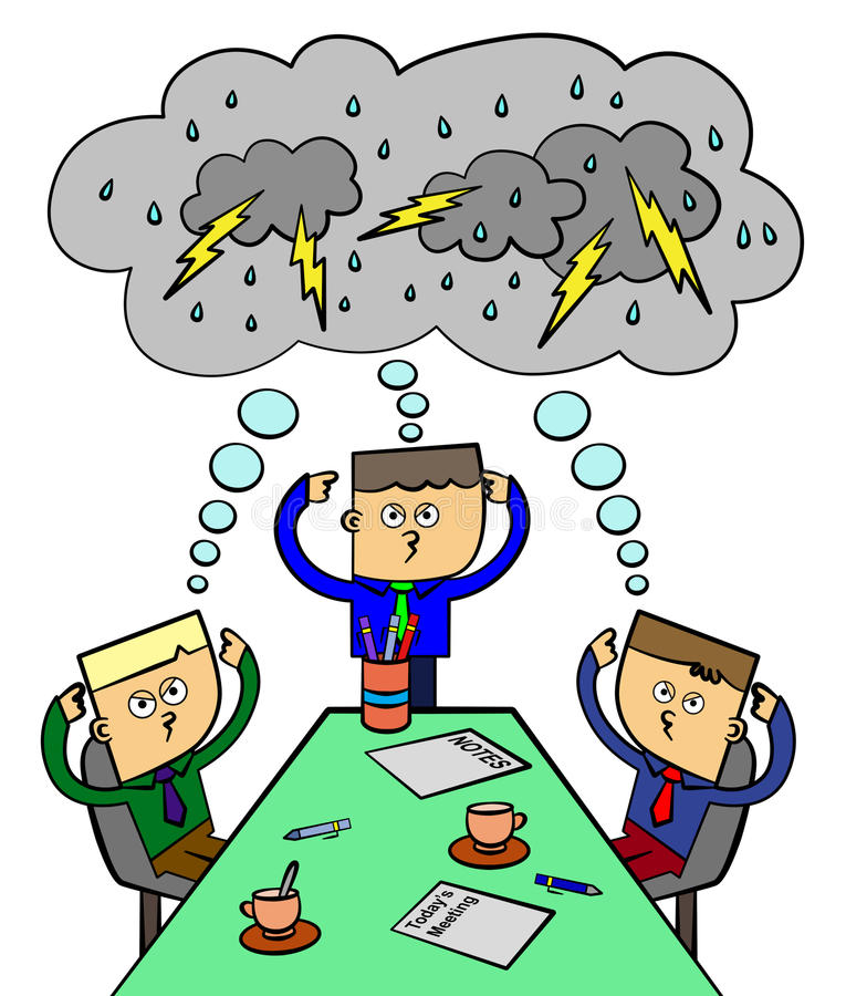 Brain storm team royalty free illustration