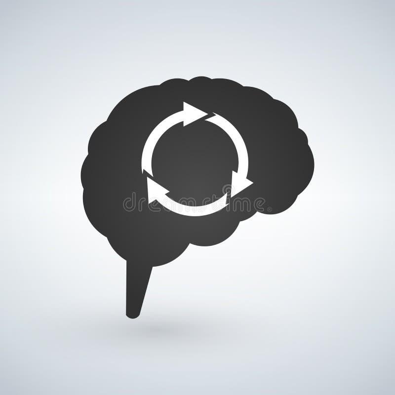 Brain Storming Session Abstract med pilar Vektorillustration som isoleras på vit bakgrund vektor illustrationer
