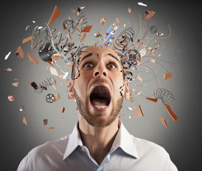 Brain stressed stock images