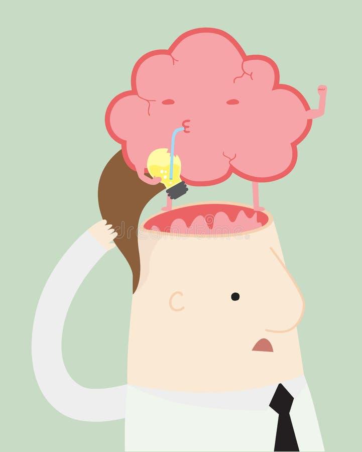 Brain Strong stock illustration