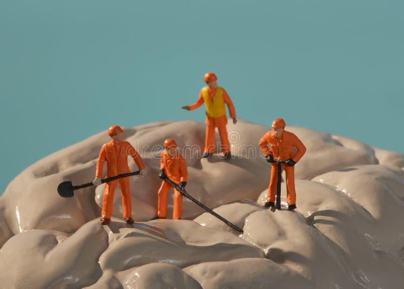 Brain surgery. Men at work royalty free stock photos