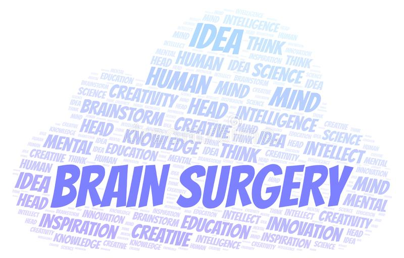 Brain Surgery ordmoln stock illustrationer