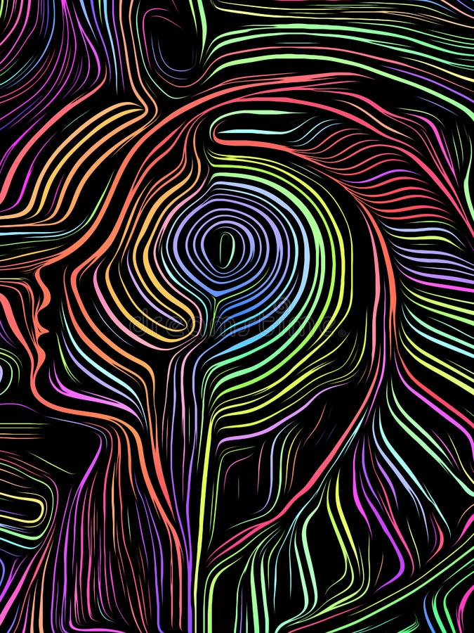 Brain Swirl Woodcut libre illustration