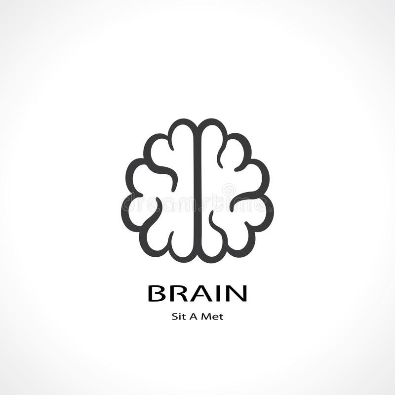 Brain symbol. Icon. vector eps8 royalty free illustration