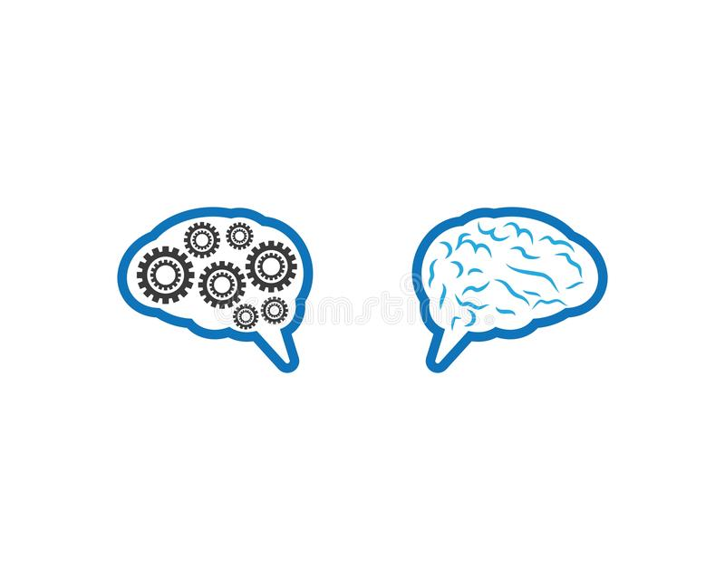 Brain Symbol Illustration illustration de vecteur
