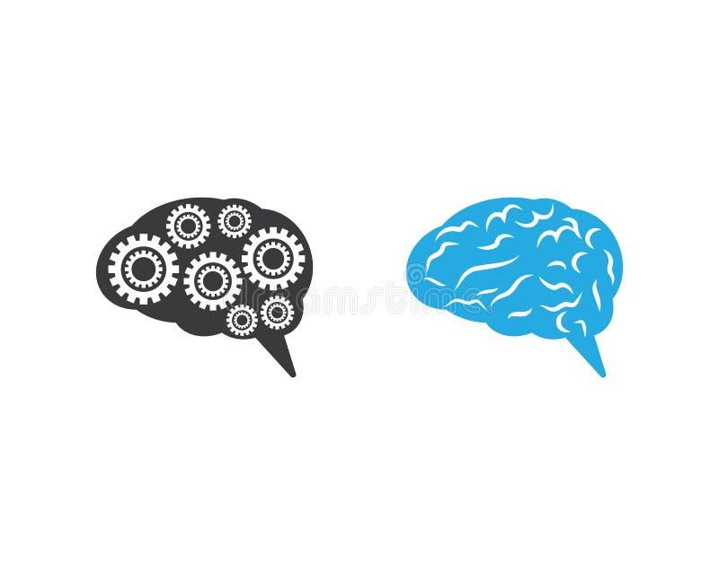 Brain Symbol Illustration royaltyfri illustrationer