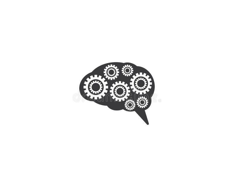 Brain Symbol Illustration ilustración del vector