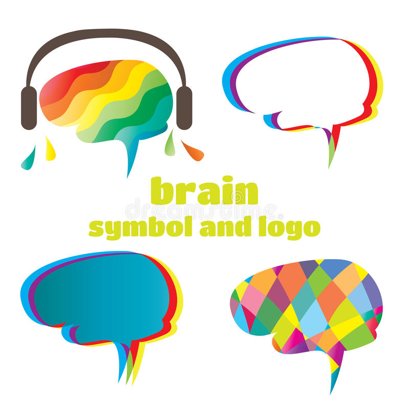 Download Brain symbol and logo stock vector. Image of green, psychology - 28172013