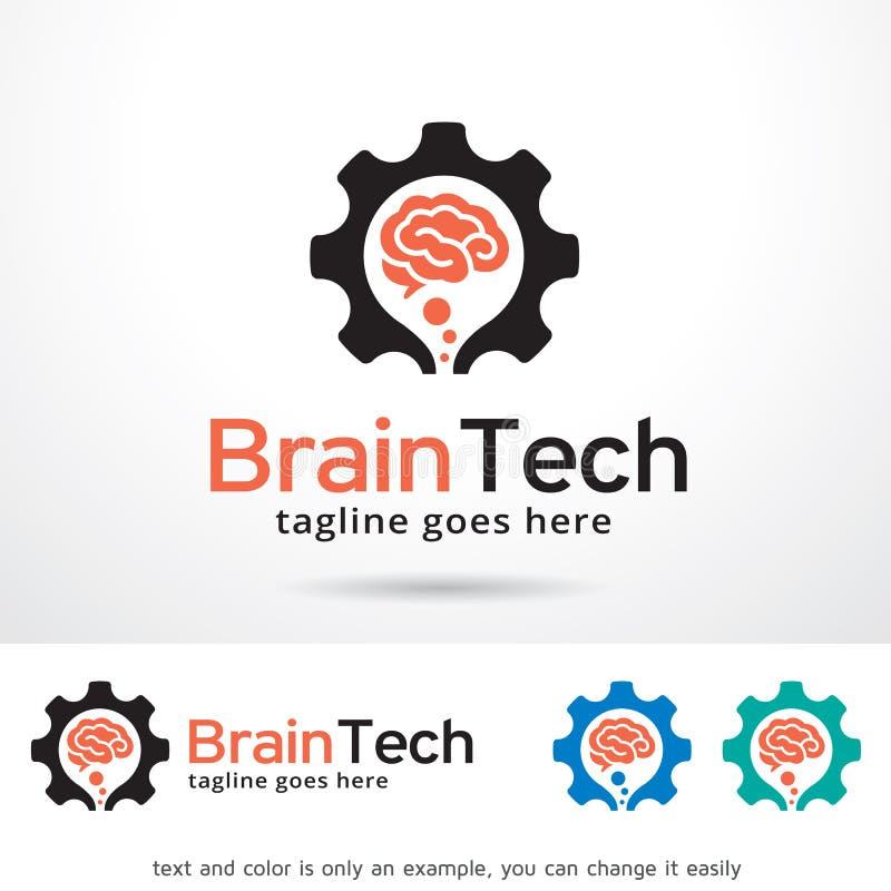 Brain Tech Logo Template Design-Vektor vektor abbildung