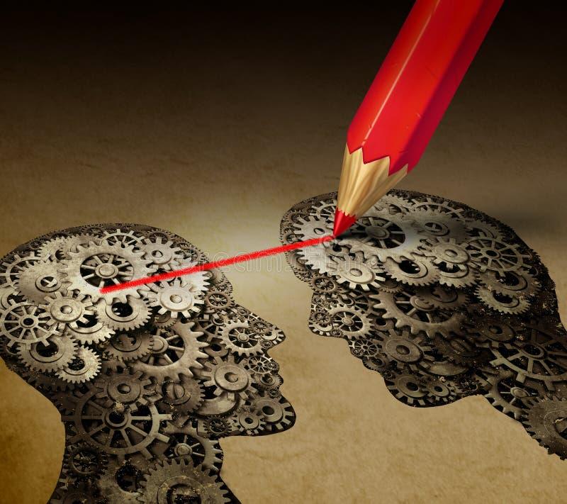Brain Telepathy Communication ilustração stock