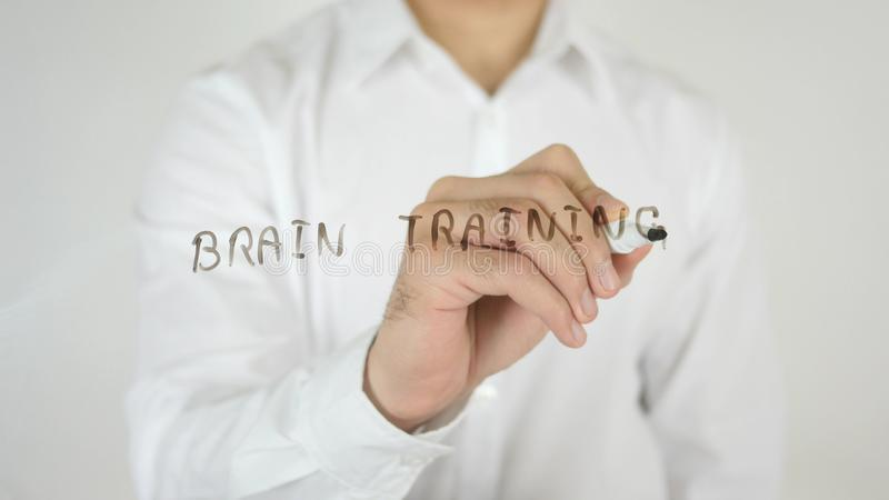 Brain Training, Written on Glass stock photography