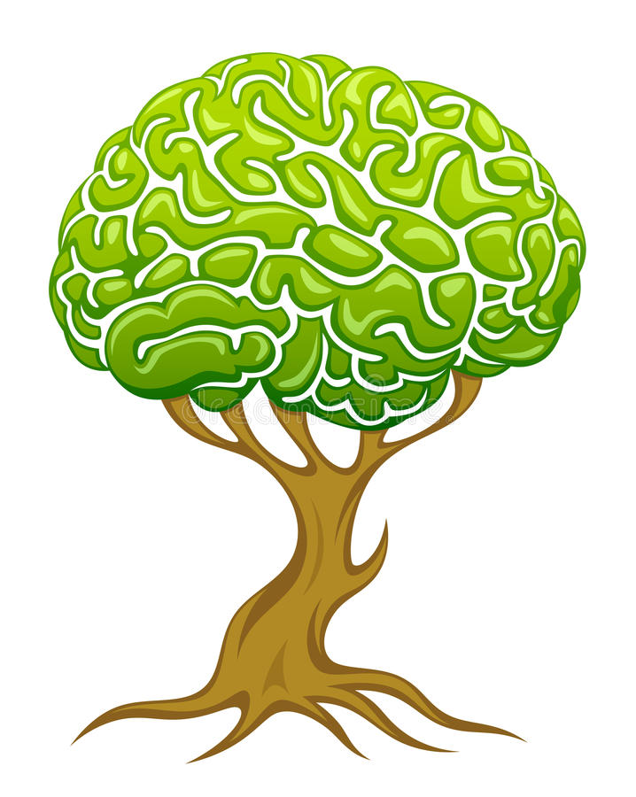 Brain Tree royaltyfri illustrationer