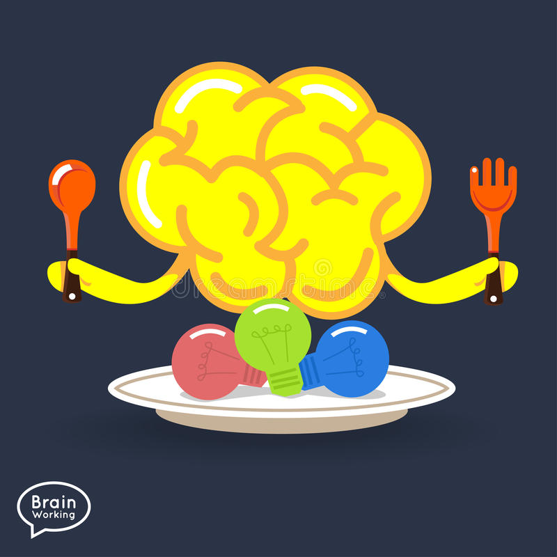 Brain stock illustration