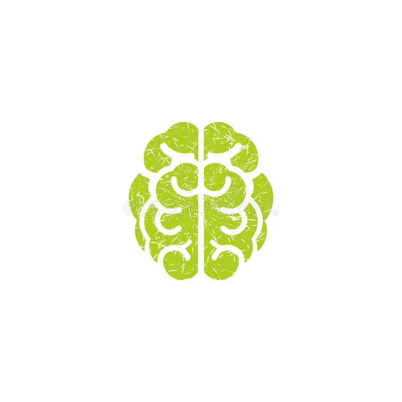 Brain vector. A brain vector with grunge brushes texture look vector illustration
