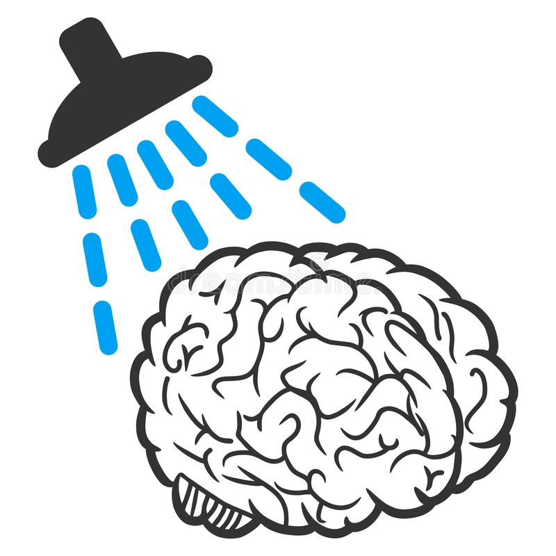 Brain Washing Vector Icon stock de ilustración