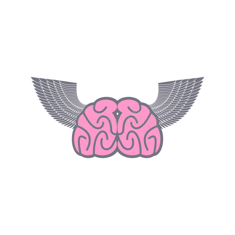Brain With Wings Symbol Logo Ideas Brain With Angel Wings On A