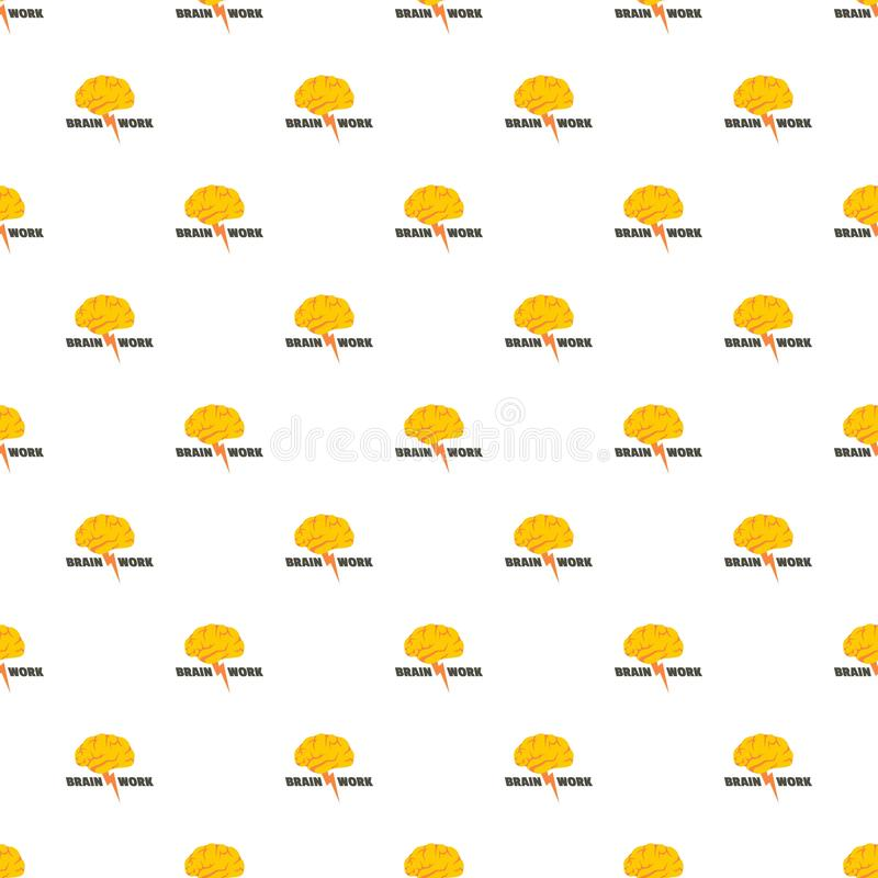 Brain work pattern seamless vector stock illustration
