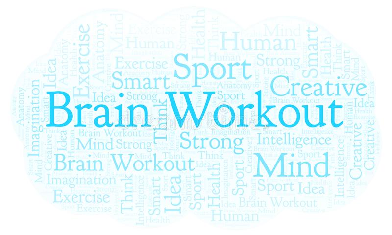 Brain Workout ordmoln stock illustrationer