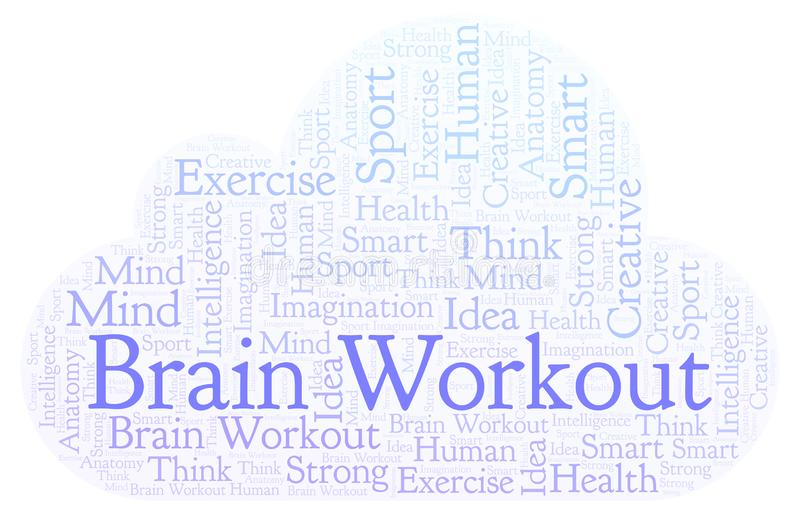 Brain Workout ordmoln royaltyfri illustrationer