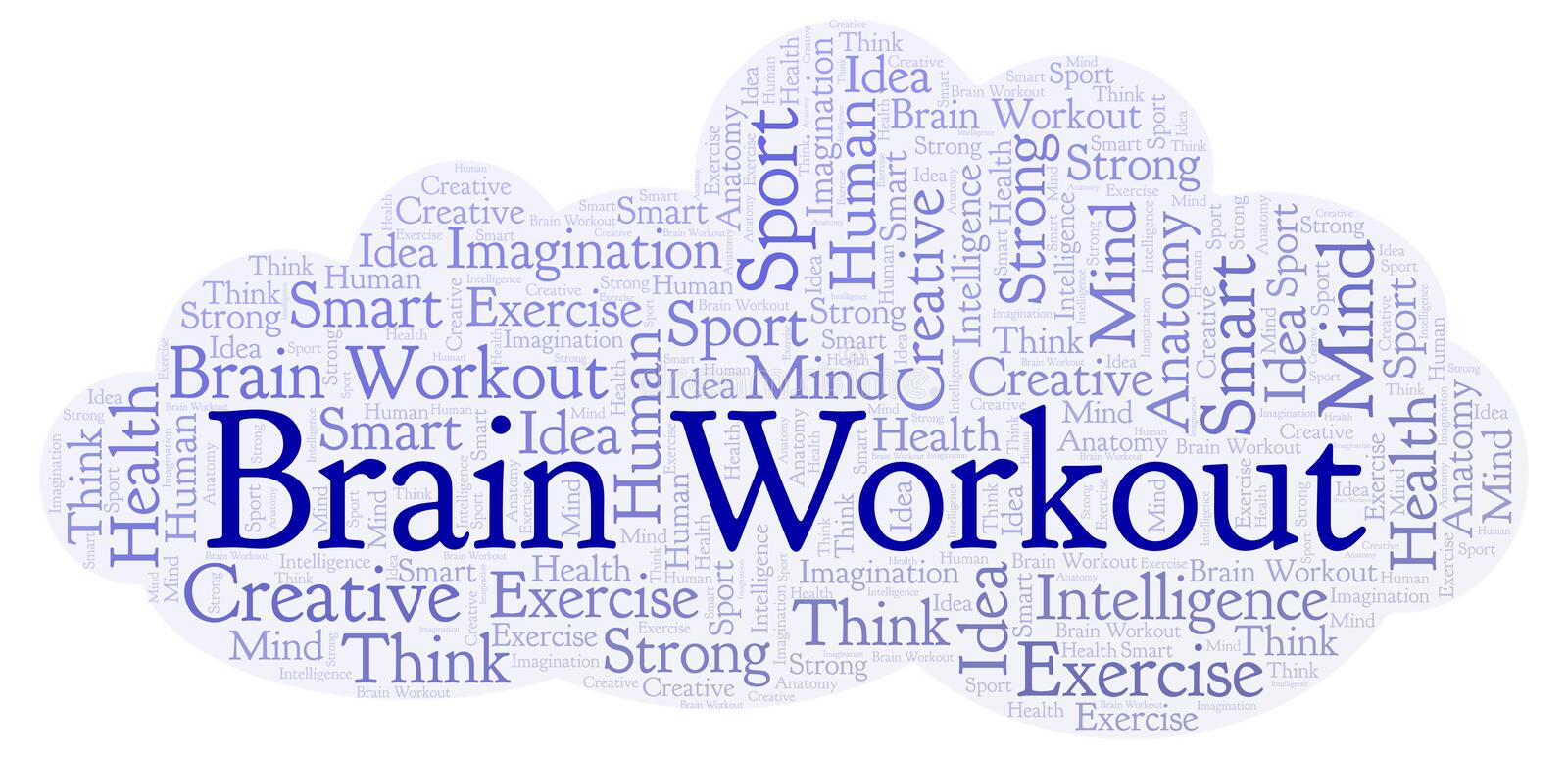 Brain Workout ordmoln vektor illustrationer