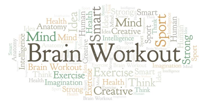 Brain Workout-Wortwolke vektor abbildung