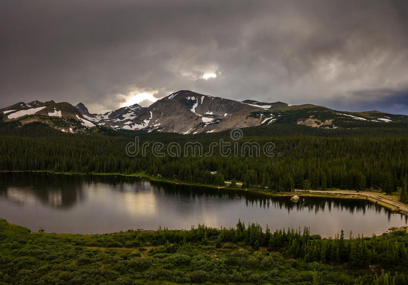 Brainard Lake after Sunset. Brainard Lake Recreation Area Indian Peaks Colorado royalty free stock photos