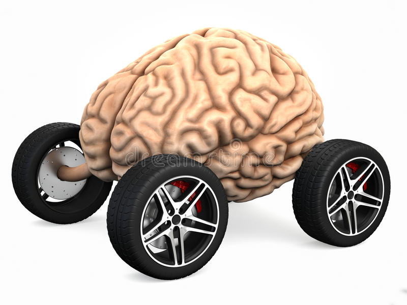 Braindrain vector illustratie