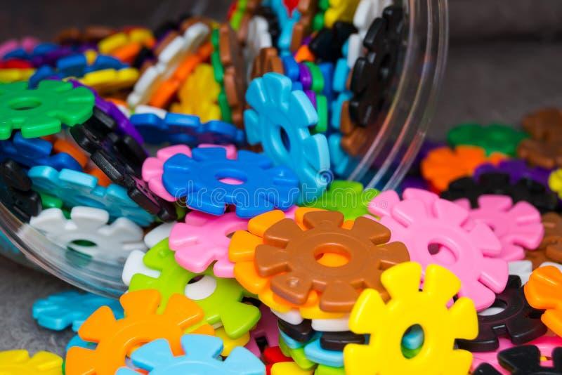 Brainflakesstukken voor kinderenclose-up royalty-vrije stock foto's