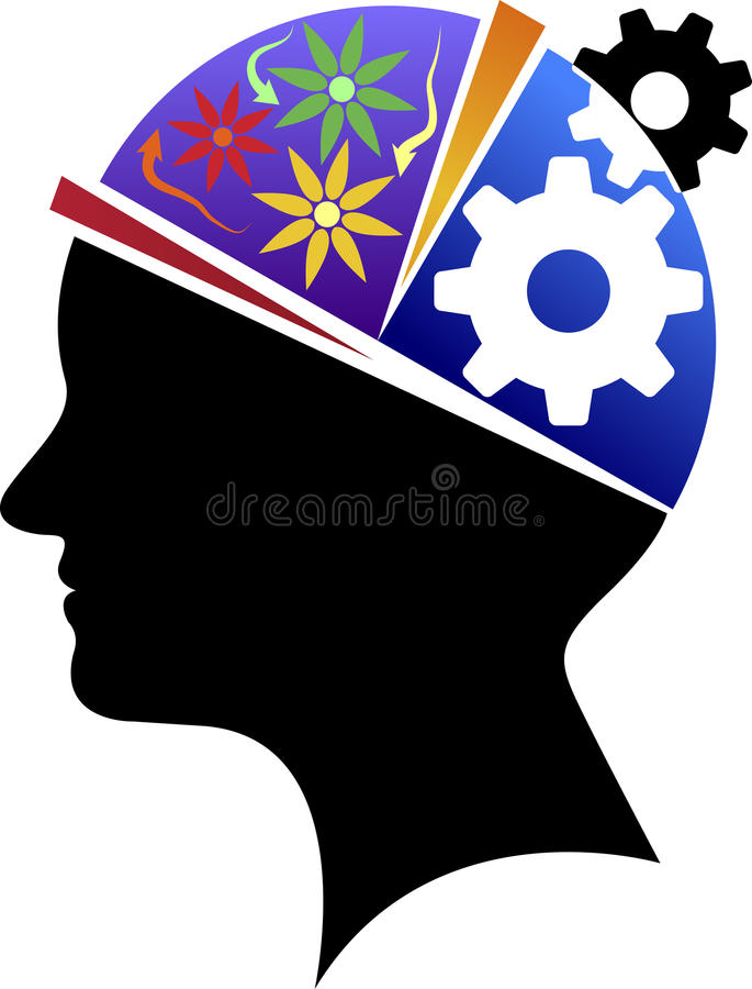 Brainpower logo ilustracja wektor