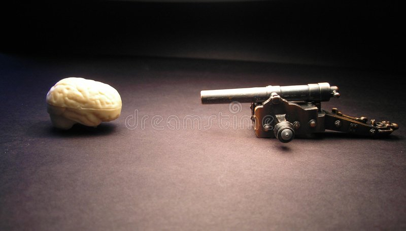Brains vs. Brawn stock images