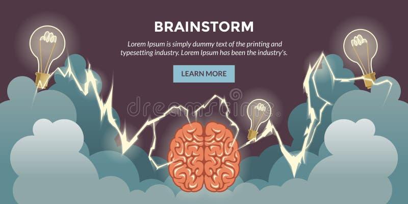 Brainshtorm illustration stock