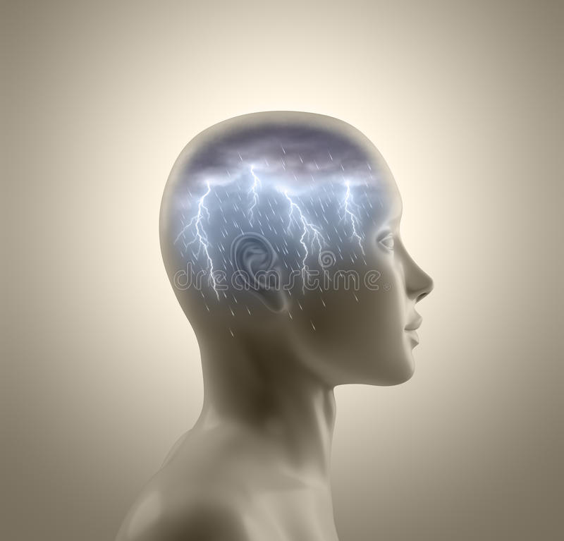Download Brainstorm stock illustration. Image of lightning, intellect - 21513746