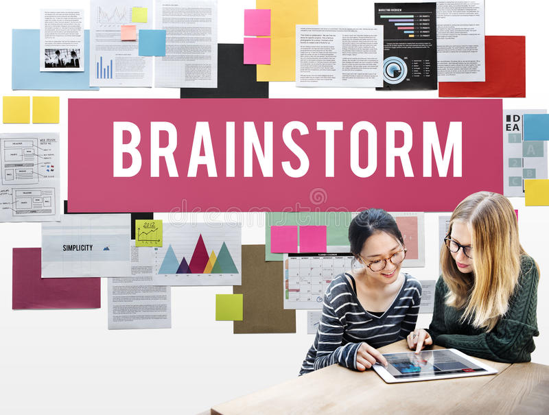 Brainstorm Analysis Creation Innovation Planning Concept royalty free stock image