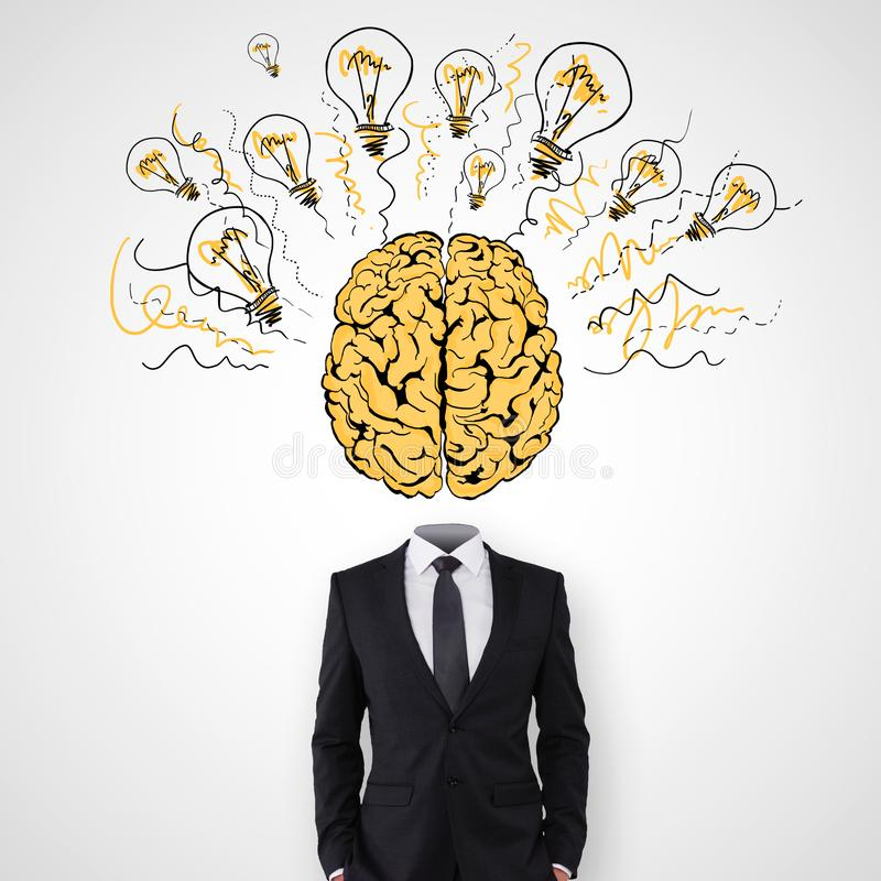 Brainstorm and idea concept stock photography