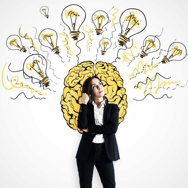 Brainstorm and innovation concept stock photo