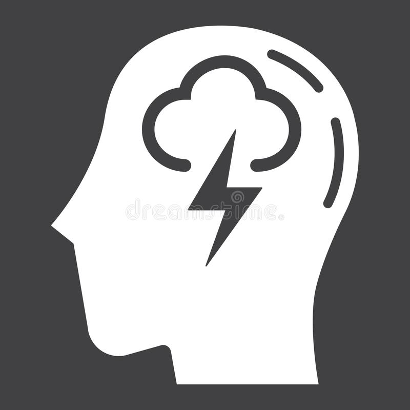 Brainstorm stała ikona, biznes i pomysł, royalty ilustracja