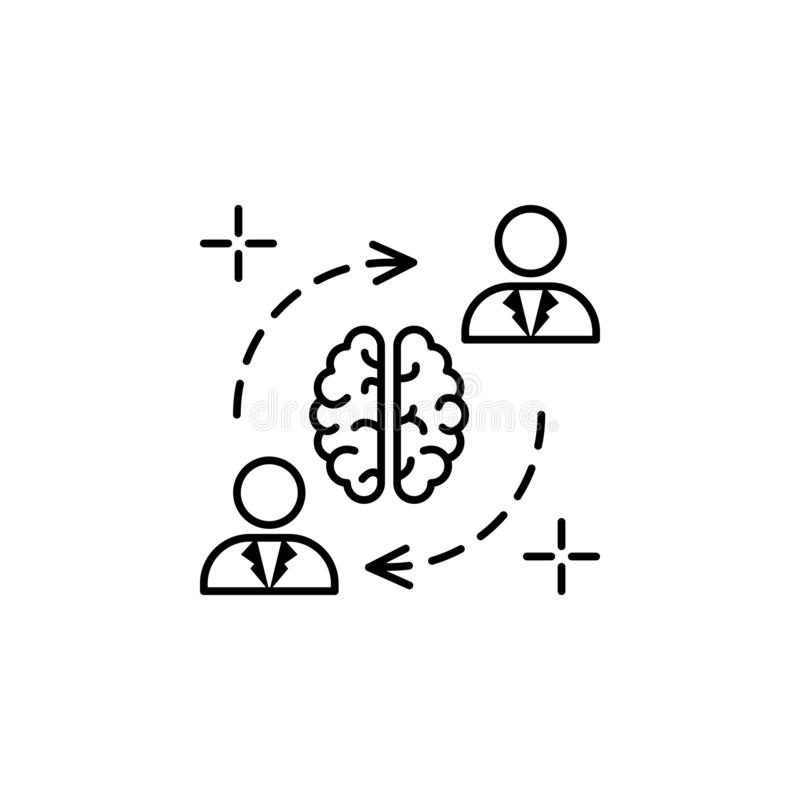 Brainstorm time brain icon. Element of brain concept royalty free illustration