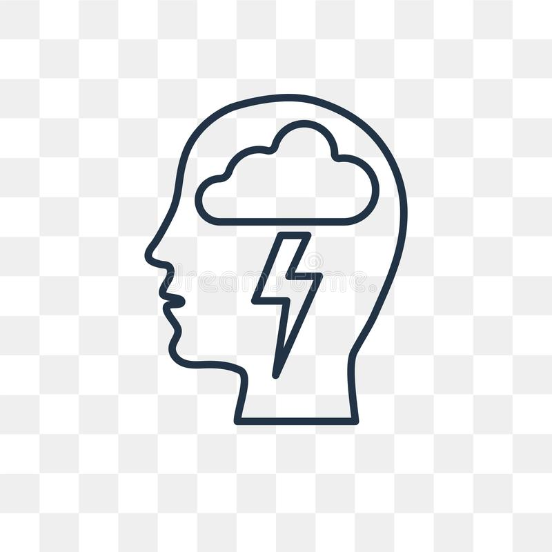 Brainstorm Vector Icon Isolated On Transparent Background