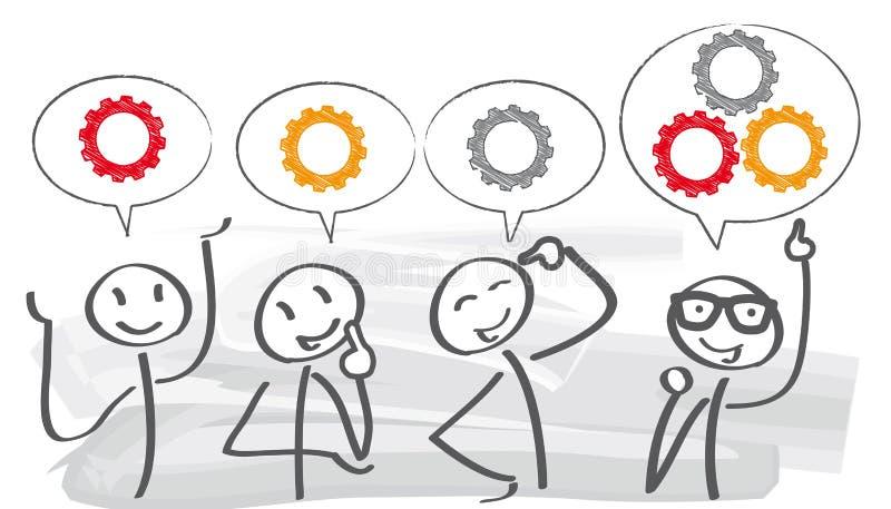 Brainstorming †'pracy zespołowej pojęcie ilustracji